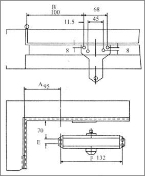 Схема монтажа дверного доводчика фото 382